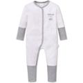 Schiesser Baby Anzug mit Vario grau-mel. 56