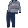 Schiesser Kn Schlafanzug lang dunkelblau 104
