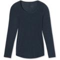 Schiesser Shirt langarm Arm nachtblau 3XL