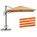 Schneider Schirme Sonnenschirm Rhodos Twist 300x300 sand