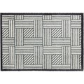 Schöner Wohnen Fußmatte Manhattan Design 004, Farbe 004 Streifengitter silber 67 x 100  cm