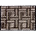 Schöner Wohnen Fußmatte Manhattan Design 004, Farbe 006 Streifengitter beige/anthrazit 67 x 100 cm