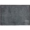 Schöner Wohnen Fußmatte Manhattan Design 004, Farbe 040 Streifengitter anthrazit-grau 67 x 100 cm