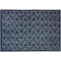 Schöner Wohnen Fußmatte Manhattan Design 005, Farbe 022 Triangle dunkelblau 67 x 100 cm