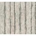 Schöner Wohnen Mustertapete in Vintage Holz Optik Tapete beige metallic schwarz 10,05 m x 0,53 m