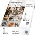 """Schott Zwiesel Fresca Set """"All-in-One"""": 1x Fresca Karaffe 1l mit Schwingdeckel 2x Banquet Becher Größe 14"""