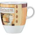 Seltmann Weiden Becher 5025 VIP Vietnam 23302 orange, creme, braun