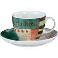 Seltmann Weiden Cappuccinotasse 1131 VIP Costa Rica 23300 grün, schwarz, creme