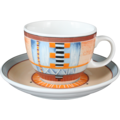 Seltmann Weiden Cappuccinotasse 1131 VIP Grado 22128 creme, blau, orange