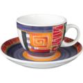 Seltmann Weiden Cappuccinotasse 1131 VIP Loreto 22125 lila, rot/rosa, orange