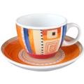 Seltmann Weiden Cappuccinotasse 1131 VIP Massa 22124 orange, rot/rosa, blau, creme