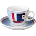 Seltmann Weiden Cappuccinotasse 1131 VIP Rapalo 22127 blau, orange