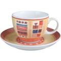 Seltmann Weiden Cappuccinotasse 1131 VIP Termoli 22126 creme, orange