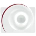 Seltmann Weiden Eierbecher eckig mit Ablage Paso Bossa Nova 23627 rot/rosa, schwarz