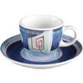 Seltmann Weiden Espressotasse 1132 VIP Imperia 22129 blau, rot/rosa