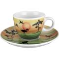 Seltmann Weiden Espressotasse 1132 VIP Nakuru 22755 grün, orange, schwarz