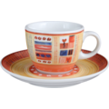 Seltmann Weiden Espressotasse 1132 VIP Termoli 22126 creme, orange