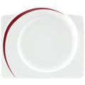 Seltmann Weiden Frühstücksteller eckig 25 cm Paso Bossa Nova 23627 rot/rosa, schwarz