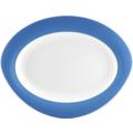 Seltmann Weiden Platte oval 31 cm Trio Blau 23811