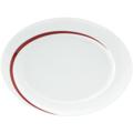 Seltmann Weiden Platte oval 35 cm Paso Bossa Nova 23627 rot/rosa, schwarz
