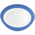 Seltmann Weiden Platte oval 35 cm Trio Blau 23811