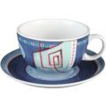 Seltmann Weiden Tasse 1164 VIP Imperia 22129 blau, rot/rosa