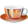 Seltmann Weiden Tasse 1164 VIP Massa 22124 orange, rot/rosa, blau, creme