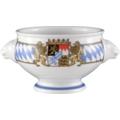 Seltmann Weiden Terrine Löwenkopf 0,50 l Compact Bayern 27110 blau, gelb, rot/rosa