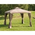 Siena Garden Ersatzdach zu Pavillon Dubai, mocca, Polyester 200g/m², L 300 x B 300 cm