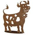 Siena Garden Lustige Kuh I Metall mit Edelrost, H60cm