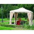 Siena Garden Pavillon Dubai, Dachbezug u. Seitenteile natur, Polyester, L 300 x B 300 cm