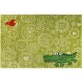 Sigikid Kinderteppich Crocodile SK-22425-040 hellgrün 80x150 cm