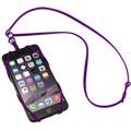 Sinji Bungee Buddy - Universal Silikon-Tragegurt für Smartphones - lila