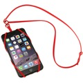 Sinji Bungee Buddy - Universal Silikon-Tragegurt für Smartphones - rot