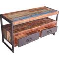 SIT BALI Lowboard 2 Schubladen, 1 offenes Fach bunt mit antikschwarz