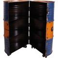 SIT-Möbel DRUMLINE Barschrank 6 Fächer, auf Rollen oramge/blau