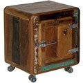 SIT-Möbel FRIDGE Nachttisch 1 Tür, auf Metallrollen bunt
