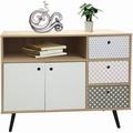 SIT MAILBOX Sideboard 3 Schubladen, 2 Türen, 1 offenes Fach