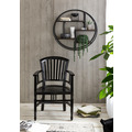 SIT-Möbel PANAMA Regal rund, 4 Böden natur mit antikschwarz