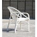 SIT-Möbel RATTAN Armlehnstuhl  weiß