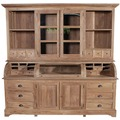 SIT ROMANTEAKA Buffet 4 Türen, 6 große und 8 kleine Schubladen, 1 Fach mit Glasklappe, natur