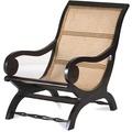 SIT-Möbel SAMBA Lazy Chair mit handgeflochtener Sitzfläche antikfinish