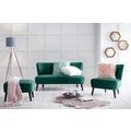 SIT-Möbel SIT4SOFA Sofa 2-Sitzer grün Bezug grün, Beine schwarz