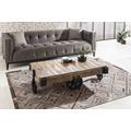 SIT-Möbel SIT4SOFA Sofa 3-Sitzer inklusive 2 Kissen Bezug schwarz, Beine antikschwarz