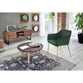 SIT-Möbel SIT&CHAIRS Armlehnstuhl, 2er-Set forest green Gestell messingfarbig, Bezug dunkelgrün