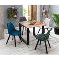 SIT-Möbel SIT&CHAIRS Stuhl, 4er-Set blau Gestell schwarz, Bezug blau