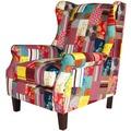 SIT-Möbel SIT&CHAIRS Vollpolstersessel Gestell kolonial, Bezug Patchwork bunt