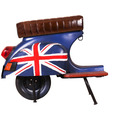 "SIT THIS & THAT Barhocker Roller recyceltes Roller-Heck ""UK"" blau mit britischer Flagge"
