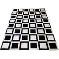 SIT-Möbel THIS & THAT Teppich 170x240 cm Dess. Bloomington schwarz/weiß