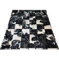 SIT THIS & THAT Teppich 170x240 cm silber auf schwarz/weiß silber auf schwarz/weiß